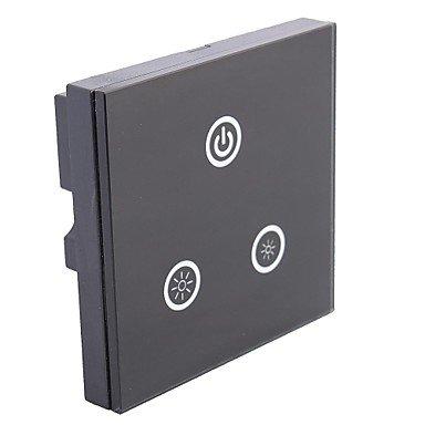 Jjetm05 Touch Panel Dc 12V-24V 8A Led Dimmer 3 Touch Buttons For Single Color Led Strip (Black)