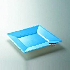 12-platos-de-plastico-cuadrados-desechables-24-cm-diseno-nacarado-color-turquesa-adiserve-