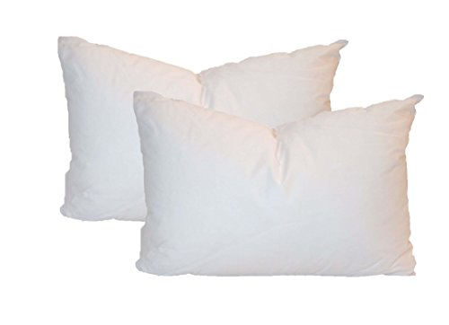 Fantastic Deal! Pillowflex Set of 2 Synthetic Down Alternative Pillow Inserts for Shams (12 Inch by ...