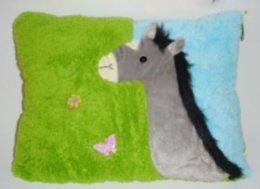 Kindergarten-Kissen/Kinder-Kissen zum schmusen,weicher Plüsch, Kuschelesel
