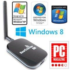 BearExtender PC WiFi Booster for Windows 8, 7, Vista, XP, 700mW High Power Transmitter, Long Range Upgradable Antenna, 802.11b/g/n