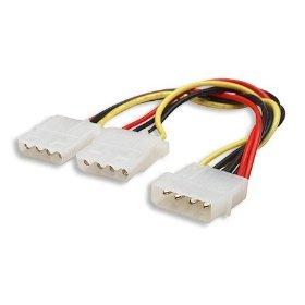 Y Molex Splitter 4 Pin Power Y Splitter to 2