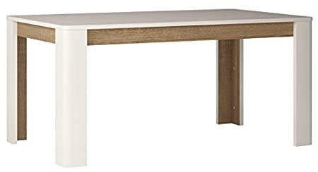 Furniture To Go Chelsea Extending Dining Table, 160/200 x 76 x 90 cm, White Gloss