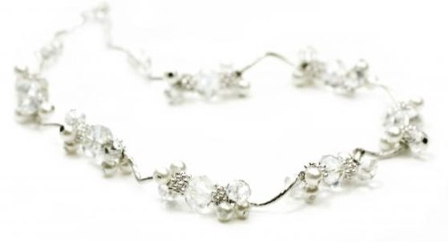 Crystal, Imitation Pearl and Silver Colour Necklet