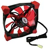 CobaNitrox N-120-R - Ventilador (gel de sílice, 120 mm, LED), color rojo