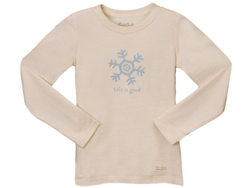 Life Is Good Unisex Infant/Toddler Crusher Long Sleeve Tee,Vintage Ivory,X-Small front-467006
