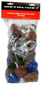 Metolius Greatest Chips 40 Screw-On Footholds