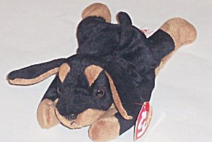 TY Beanie Baby - DOBY the Doberman Dog - 1