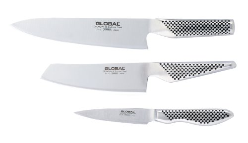 Global G-2538 - 3 Piece Knife Set With Chef'S, Vegetable And Paring Knife
