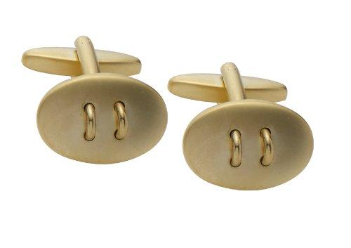 Code Red Gold Plated Matt Oval Cufflinks