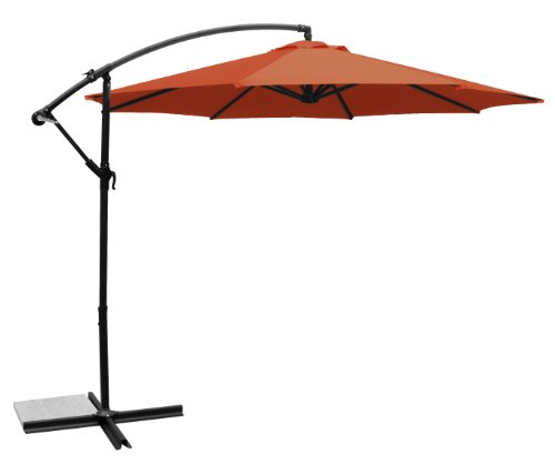 Ace Evert Offset Umbrella 8074, 10 ft, Polyester, Terra Cotta
