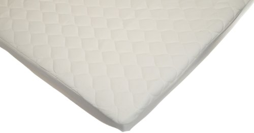 American Baby Company Organic Waterproof Natural Quilted Fitted Portable/Mini Crib Mattress Pad Cover