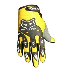 ATV Street Bike Motorcycle Gloves 07 Yellow (Med)