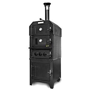 Sole Gourmet Wood Fired Pizza Smoker Double Oven