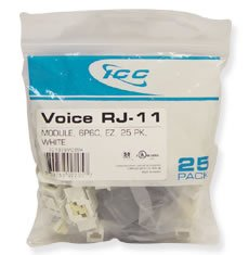 Ic1076Vcwh - 25Pk Cat3 Jck 6Con. - White Ic1076Vcwh - 25Pk Cat3 Jck 6Con. - White