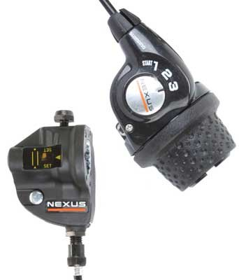 Shimano SL-3S35 Nexus Revo Shifter 3 Speed Twist for Shimano internal geared hubs.