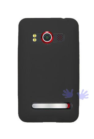 GTMax Durable Soft Rubber Silicone Skin Cover Case - Black for Sprint HTC EVO 4G CDMA Cell Phone