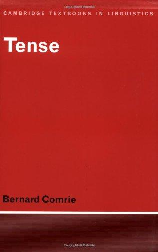Tense (Cambridge Textbooks in Linguistics)