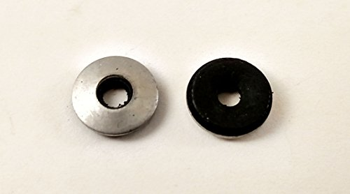 #10 Neoprene EPDM Bonded Sealing Washers Stainless Steel 18-8, Neo Bond, 100 Pieces, Works with Both #8 and #10 Screws (#8 & #10) (Neoprene Washers compare prices)