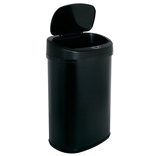 13-Gallon Touch Free Sensor Automatic Touchless Trash Can Black (Funny Trash Can compare prices)