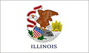Illinois Flag Polyester 2 ft. x 3 ft.