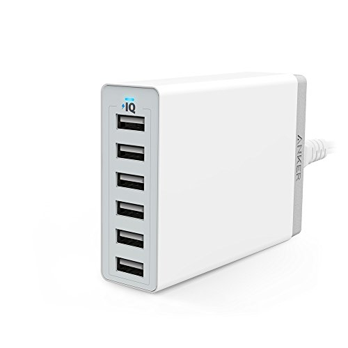 Anker PowerPort 6 (60W 6ポート USB急速充電器)  iPhone / iPad / iPod / Xperia / Galaxy / Nexus / 3DS / PS Vita / ウォークマン他対応 【PowerIQ搭載】 (ホワイト) A2123523