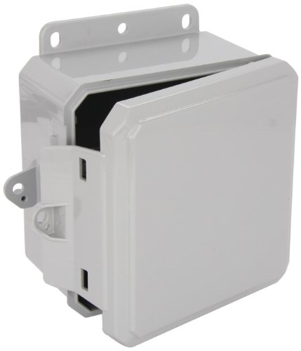 "Integra P6063Lp Impact Line Enclosure, Low Profile Hinge, Integrated Latch, Mounting Flange, 6"" Height, 6"" Width, 3"" Depth"