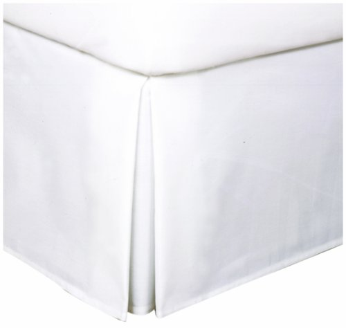 Levinsohn Easy Care Tailored Microfiber 14-Inch Bedskirt, Queen, White