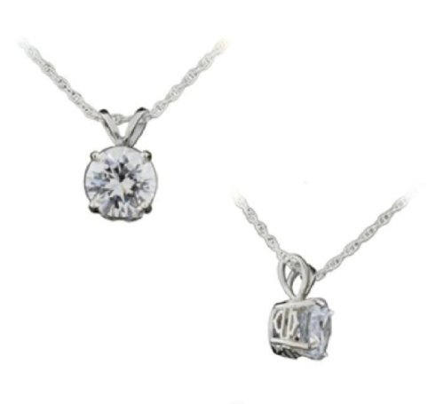 Harley-Davidson® Stamper Women's Sterling Silver PLATINET Contemporary 12.0 Clear Cubic Zirconia Necklace. PN7490CZ