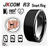Jakcom R3 Smart Ring waterproof dust-proof fall-proof for NFC Electronics Mobile Phone Android Smartphone wearable magic ring(11#) (Color: Black)