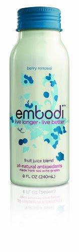 Embodi Fruit Juice Blend, Blueberry Pomegranate, 8-Ounce Bottles (Pack of 12)