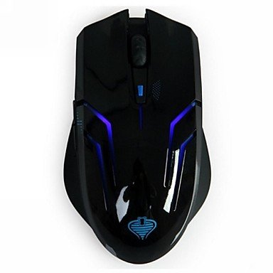 Mch-Qisan Crotalus 2.4Ghz 2000Dpi 6 Buttons Blue Led Wireless Professional Gaming Mouse -Black
