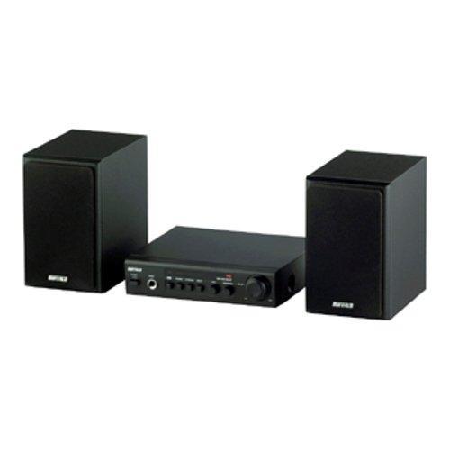 【Amazonの商品情報へ】iBUFFALO スピーカーシステム 2.0ch 高音質BBEテクノロジー ブラック BSSP10