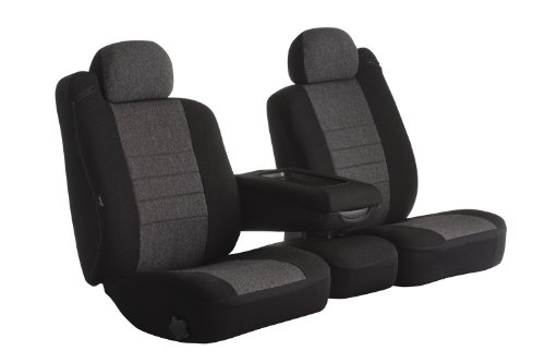 Charcoal Fia OE32-10 CHARC Custom Fit Rear Seat Cover Bench Seat Tweed,