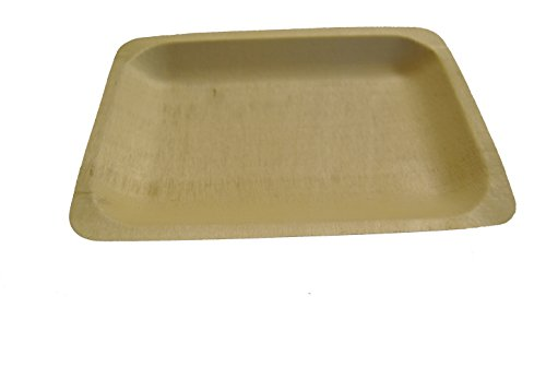 Perfect Stix Perfectware 10-50ct Wooden Disposable Rectangular Plates, 10