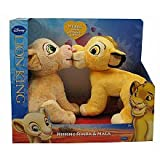 Disney Lion King Exclusive Plush Figure 2Pack Kissing Simba Nala