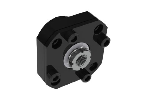 Nook EZF-3015-34 EZEE-MOUNT Flanged Double Bearing Support With Motor Mount With 34 Nema Frame Reference For 15mm Bearing Size Support