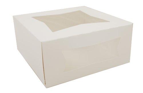 Southern Champion Tray 24293 Paperboard White Window Bakery Box, 9