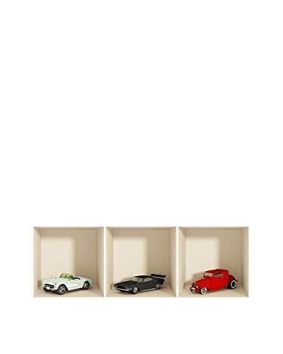 Ambiance Live Vinile Decorativo 3 pezzi 3D Effect vintage cars (Reusable)