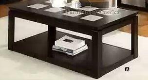 Verona Coffee Table w/4 Hidden Wheels