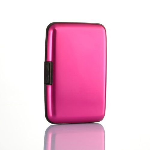 Waterproof Business ID Credit Card Wallet Holder Aluminum Metal Case Box (Rose) Picture