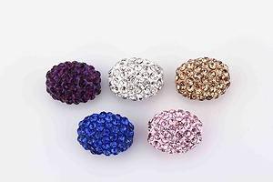 Bijoux By Me Bijoux By Me Pflasterkristall Diamante Strassovalperlen Shamballa Freundschaftsbänder-Kreation Lila