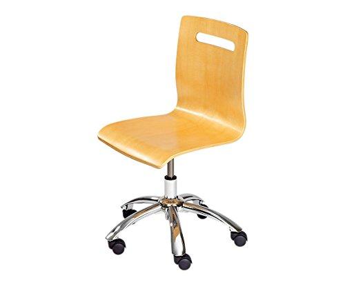 Brodrehstuhl-aus-Holz-mit-extra-leisen-Laufrollen-Drehstuhl-Buche-Schule-Schreibtischstuhl-Brostuhl-Holzstuhl-hhenverstellbar