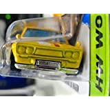HOT WHEELS YELLOW '71 DATSUN BLUEBIRD 510 WAGON WITH SMOOTH GRILL VARIATION