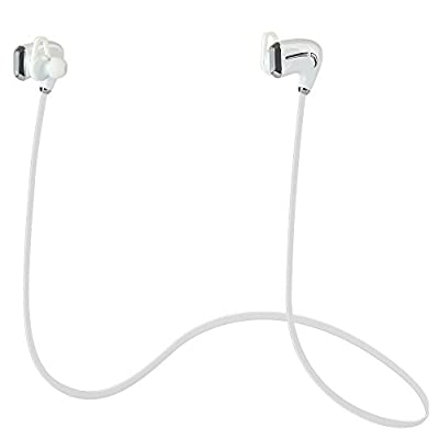 Neelam N900 Sports Earphones Wireless Bluetooth 4.0 Stereo Headphone for Running Jogger Yoga Cycling - Microphone for Hands Free Calling - Works with 2 Devices Seamlessly and Fit All Bluetooth Enabled Devices such as iPhone iPad iPod Samsung Palm (White)