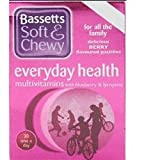 THREE PACKS of Bassetts Soft & Chewy Everyday Health Multivitamins - Blueberry