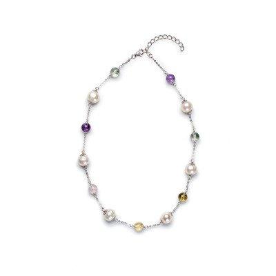 Gemstones Pearl Necklace