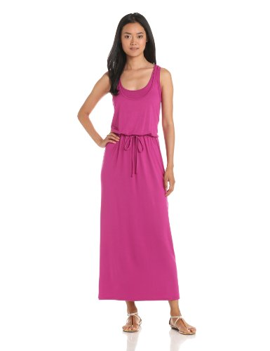 Three Dots Women's Drawstring Maxi Tank Dress, Cosmo, Small