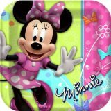 Minnie Mouse Party Plates - Minnie Square Paper Dinner Plates - 8 Count - 1
