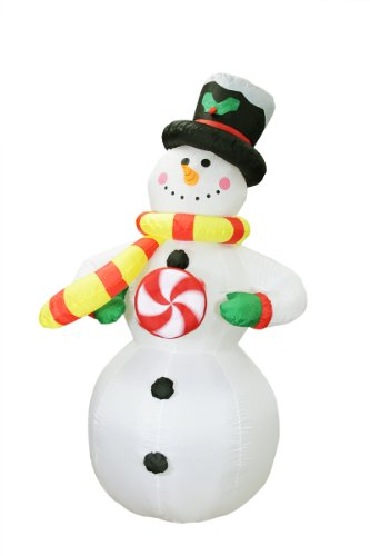 6' Airblown Inflatable Standing Snowman Lighted Christmas Yard Art Decoration front-518745
